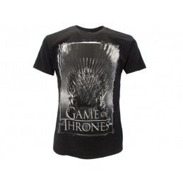 MAGLIA T SHIRT GAME OF THRONES TRONO DI SPADE NERA