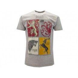 MAGLIA T SHIRT GAME OF THRONES CASATE GRIGIA