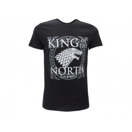 MAGLIA T SHIRT GAME OF THRONES KING IN THE NORTH NERA