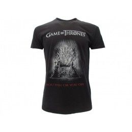 MAGLIA T SHIRT GAME OF THRONES YOU WIN OR YOU DIE NERA