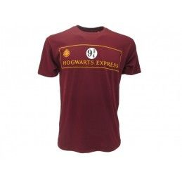 MAGLIA T SHIRT HARRY POTTER HOGWARTS EXPRESS 9 3/4 BORDEAUX