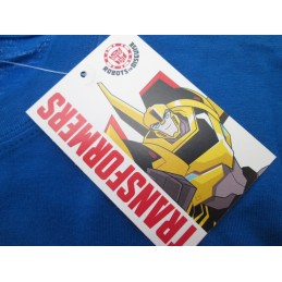 MAGLIA T SHIRT TRANSFORMERS LOGO BLU ROYAL