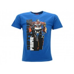 MAGLIA T SHIRT TRANSFORMERS OPTIMUS PRIME BLU ROYAL