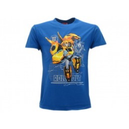 MAGLIA T SHIRT TRANSFORMERS ROLL OUT BLU ROYAL