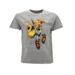 MAGLIA T SHIRT TRANSFORMERS ROLL OUT GRIGIA