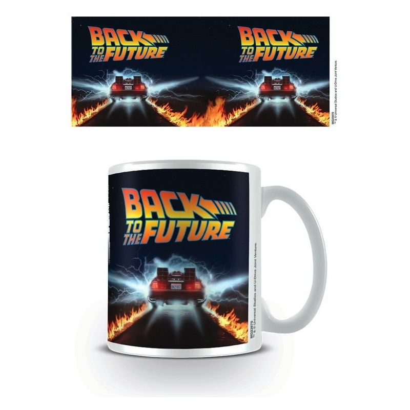 BACK TO THE FUTURE DELOREAN MUG TAZZA CERAMICA