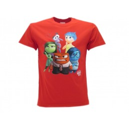 MAGLIA T SHIRT DISNEY INSIDE OUT ROSSA