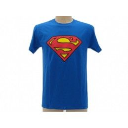 MAGLIA T SHIRT SUPERMAN LOGO BLU ROYAL