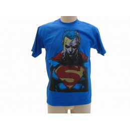 MAGLIA T SHIRT SUPERMAN BUSTO BLU ROYAL