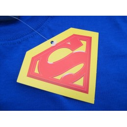 MAGLIA T SHIRT SUPERMAN BUSTO BLU ROYAL