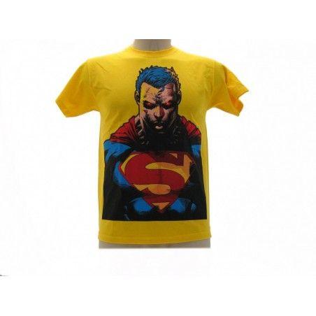 MAGLIA T SHIRT SUPERMAN BUSTO GIALLA