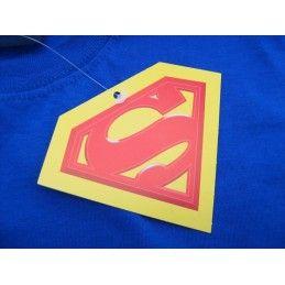 MAGLIA T SHIRT SUPERMAN LOGO VINTAGE BLU ROYAL