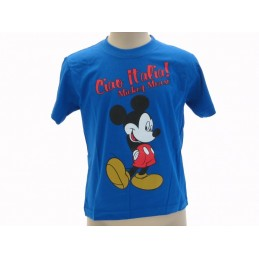 MAGLIA T SHIRT TOPOLINO MICKEY MOUSE ITALIA BLU ROYAL