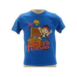 MAGLIA T SHIRT JAKE ED I PIRATI TESORO BLU ROYAL