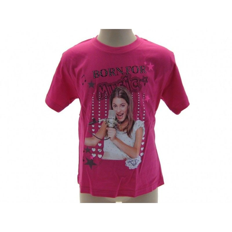 MAGLIA T SHIRT DISNEY VIOLETTA BORN FOR MUSIC FUCSIA