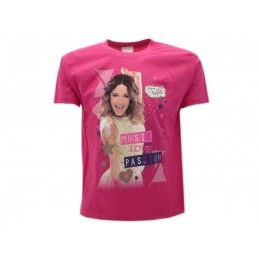 MAGLIA T SHIRT DISNEY VIOLETTA MUSIC LOVE PASSION FUCSIA