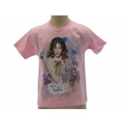 MAGLIA T SHIRT DISNEY VIOLETTA KISS MUSIC LOVE ROSA