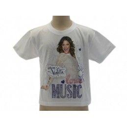 MAGLIA T SHIRT DISNEY VIOLETTA LOVE MUSIC BIANCA
