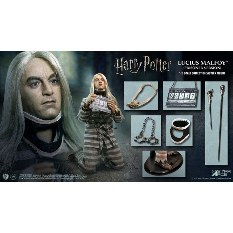 HARRY POTTER - LUCIUS MALFOY PRISONER 1/6 SCALE 30CM ACTION FIGURE MOLECULE8
