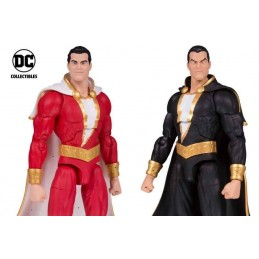 DC COMICS ESSENTIALS SHAZAM AND BLACK ADAMS 2-PACK ACTION FIGURE