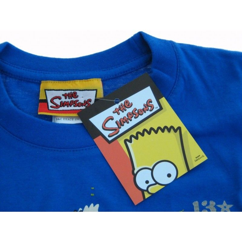 MAGLIA T SHIRT THE SIMPSONS BART USE YOUR HEAD BLU ROYAL