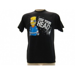 MAGLIA T SHIRT THE SIMPSONS BART USE YOUR HEAD NERA