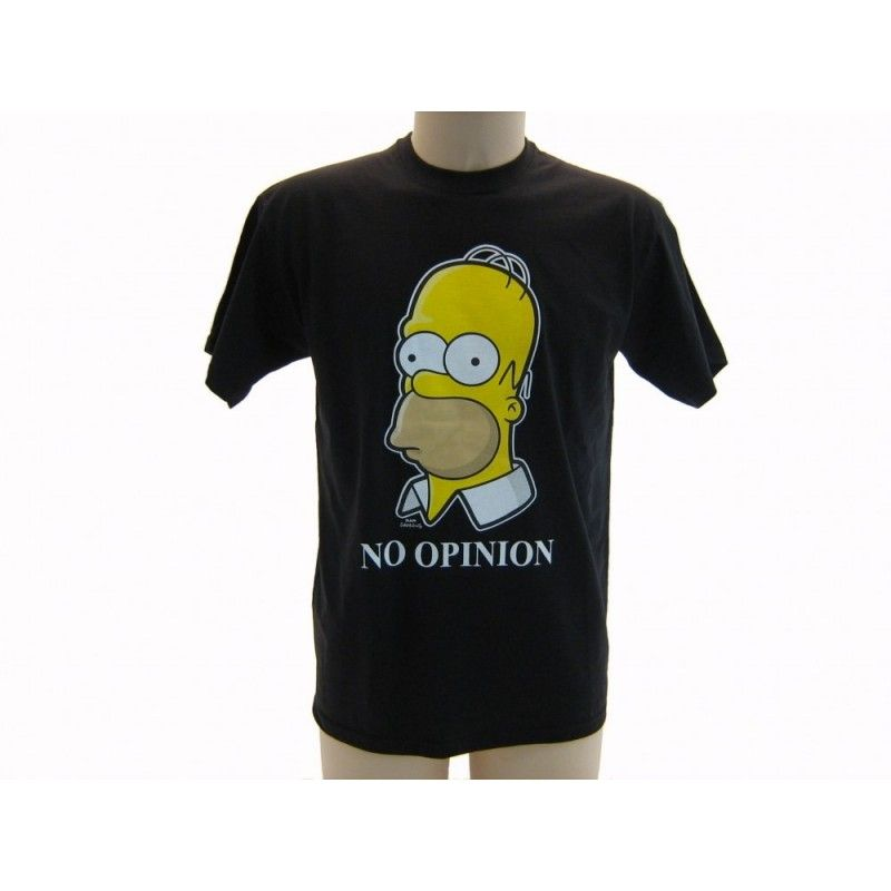 MAGLIA T SHIRT THE SIMPSONS HOMER NO OPINION NERA