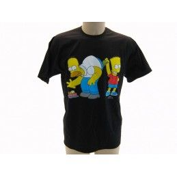 MAGLIA T SHIRT THE SIMPSONS SOLDI HOMER BART NERA