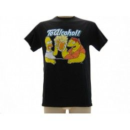 MAGLIA T SHIRT THE SIMPSONS HOMER BARNEY ALCOHOL NERA