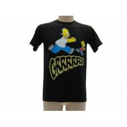 MAGLIA T SHIRT THE SIMPSONS HOMER BART GRRRR NERA