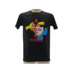 MAGLIA T SHIRT THE SIMPSONS HOMER KEEP CALM NERA
