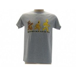 MAGLIA T SHIRT THE SIMPSONS HOMER SAPIENS GRIGIA
