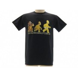 MAGLIA T SHIRT THE SIMPSONS HOMER SAPIENS NERA