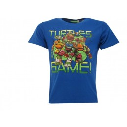 MAGLIA T SHIRT TMNT TARTARUGHE NINJA GOT GAME BLU ROYAL