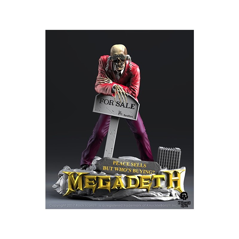 ROCK ICONZ - MEGADETH VIC RATTLEHEAD 20CM STATUE FIGURE KNUCKLEBONZ