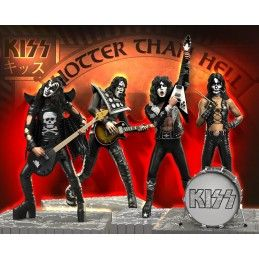 KNUCKLEBONZ ROCK ICONZ - KISS SET 4 FIGURES 20CM STATUE FIGURE