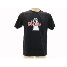 MAGLIA T SHIRT UMORISTICHE GAME OVER WEDDING NERA