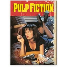PULP FICTION MINI FLAT MAGNET MAGNETE LOCANDINA