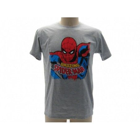 MAGLIA T SHIRT MARVEL THE AMAZING SPIDERMAN GRIGIA
