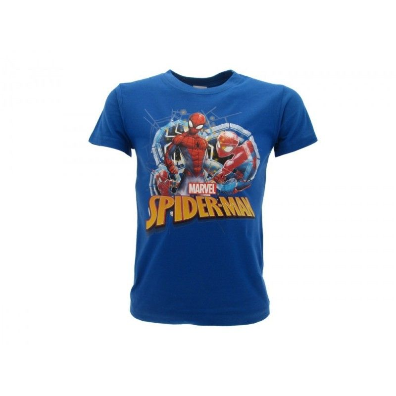 MAGLIA T SHIRT MARVEL SPIDERMAN BLU ROYAL