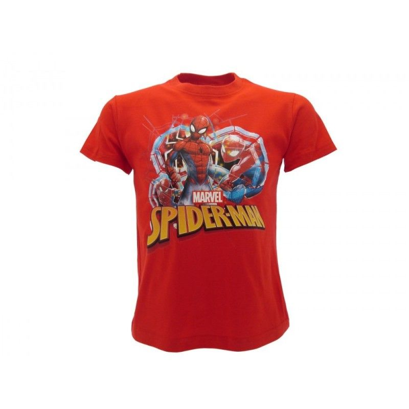 MAGLIA T SHIRT MARVEL SPIDERMAN ROSSA