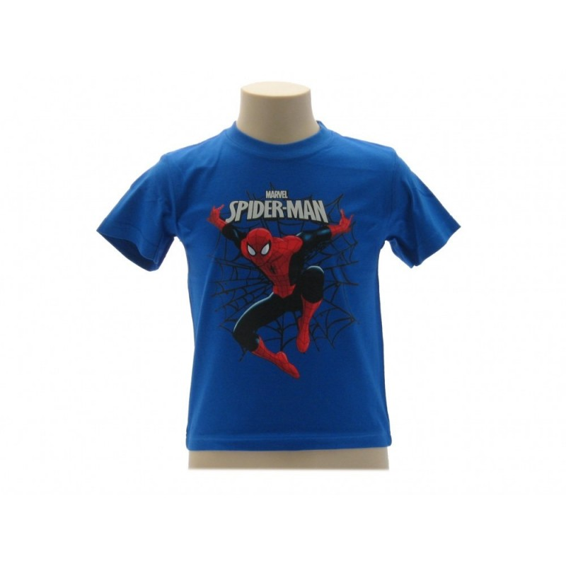 MAGLIA T SHIRT MARVEL SPIDERMAN RAGNATELA BLU ROYAL