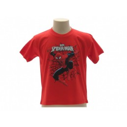 MAGLIA T SHIRT MARVEL SPIDERMAN RAGNATELA ROSSA