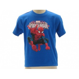 MAGLIA T SHIRT MARVEL ULTIMATE SPIDERMAN BLU ROYAL