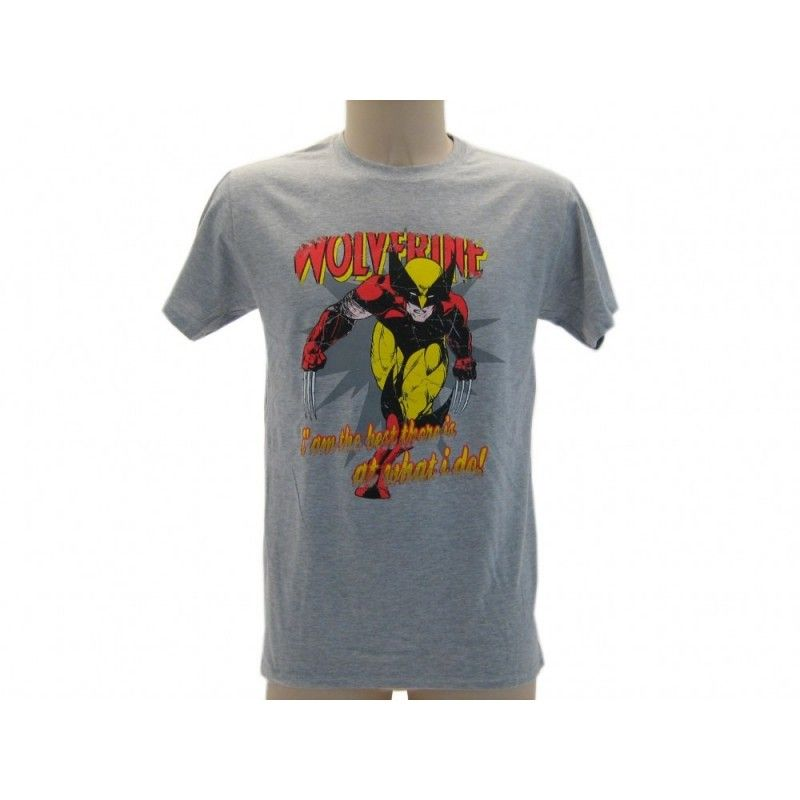 MAGLIA T SHIRT MARVEL WOLVERINE THE BEST GRIGIA