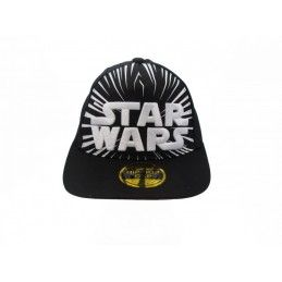 CAPPELLO BASEBALL CAP STAR WARS WHITE LOGO NERO