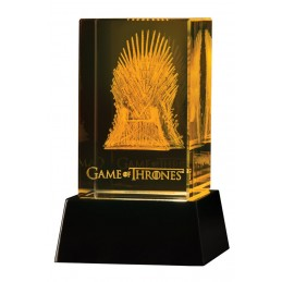 GAME OF THRONES - IL TRONO DI SPADE - IRON THRONE CRYSTAL 3D DARK HORSE