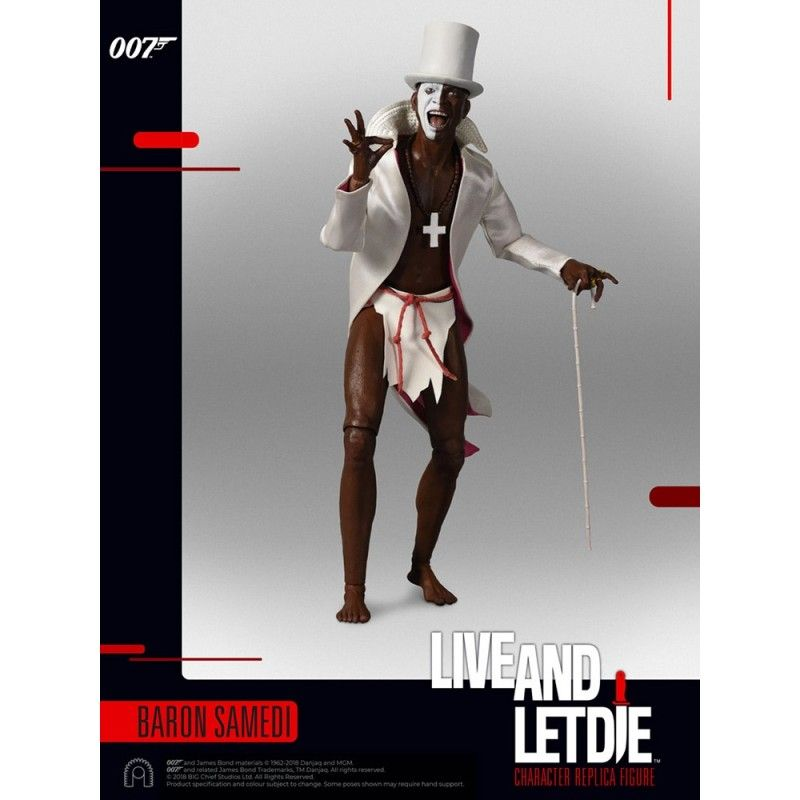 007 LIVE AND LET DIE BARON SAMEDI SIXTH SCALE ACTION FIGURE 30CM BIG CHIEF