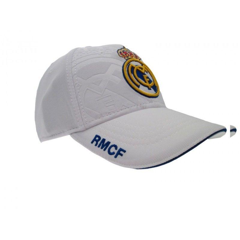 CAPPELLO BASEBALL CAP REAL MADRID UFFICIALE BIANCO RICAMATO
