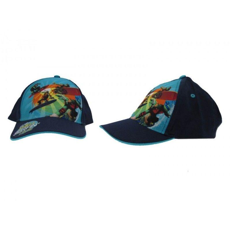 CAPPELLO BASEBALL CAP TMNT TARTARUGHE NINJA SURFIN BLU